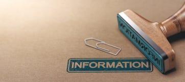 Concepto del fondo de la información del negocio Fotografía de archivo libre de regalías