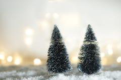 Concepto del fondo de la Navidad y del invierno Fotos de archivo libres de regalías