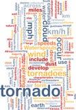 Concepto del fondo de la tormenta del tornado Fotos de archivo