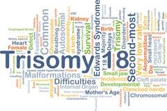 Concepto del fondo de la trisomía 18 Foto de archivo libre de regalías