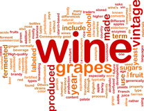 Concepto del fondo de la vendimia del vino Imagenes de archivo
