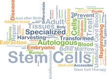 Concepto del fondo de las células madres Imagen de archivo libre de regalías