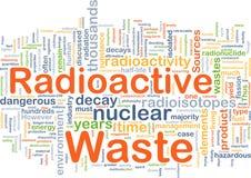 Concepto del fondo de los desechos radioactivos Imágenes de archivo libres de regalías