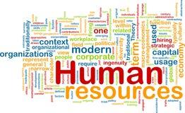 Concepto del fondo de los recursos humanos Fotos de archivo libres de regalías