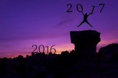 Concepto 2017 del fondo del Año Nuevo Imagen de archivo libre de regalías