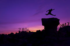 Concepto 2017 del fondo del Año Nuevo Fotografía de archivo libre de regalías