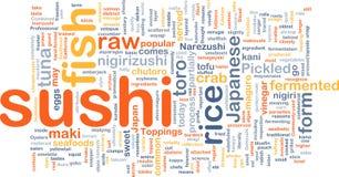 Concepto del fondo del alimento del sushi Imagen de archivo