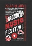 Concepto del fondo del cartel del festival de música Foto de archivo