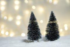 Concepto del fondo del invierno de la Navidad Imagen de archivo libre de regalías