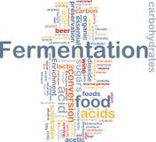 Concepto del fondo del proceso de fermentación Imagen de archivo libre de regalías