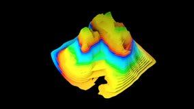 concepto del fondo del mapa topográfico 3D con las capas coloreadas, rindiendo el ejemplo abstracto ilustración del vector