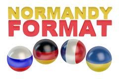 Concepto del formato de Normandía de la reunión Imagen de archivo