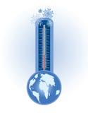 Concepto del frío del invierno stock de ilustración