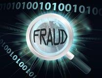 Concepto del fraude de Internet Foto de archivo libre de regalías