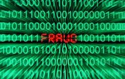 Concepto del fraude del Web Imagenes de archivo