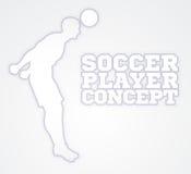 Concepto del futbolista de la silueta Imagen de archivo libre de regalías