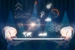 Concepto del futuro, de la comunicación y de las finanzas foto de archivo
