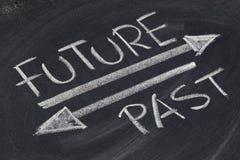 Concepto del futuro y del pasado Imagenes de archivo