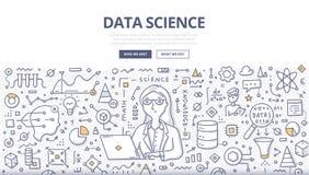 Concepto del garabato de la ciencia de los datos libre illustration