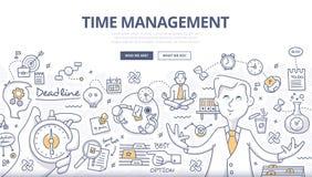 Concepto del garabato de la gestión de tiempo