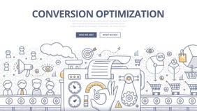 Concepto del garabato de la optimización de la conversión