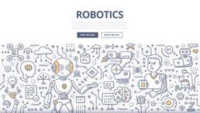 Concepto del garabato de la robótica Fotografía de archivo