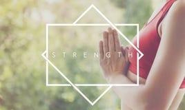 Concepto del gimnasio de la yoga de Activity Strong Training del atleta de la fuerza Fotografía de archivo libre de regalías