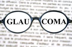 Concepto del glaucoma con los vidrios stock de ilustración