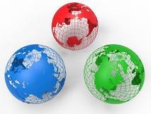Concepto del globo de la tierra del RGB ilustración del vector