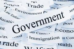 Concepto del gobierno foto de archivo
