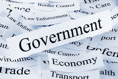 Concepto del gobierno y de la economía fotos de archivo