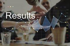 Concepto del gráfico de Analysis Corporation del progreso de los resultados de negocio fotografía de archivo