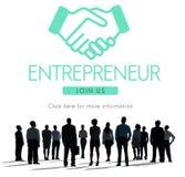 Concepto del gráfico de Business Venture Handshake del empresario fotos de archivo