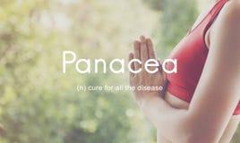 Concepto del gráfico de la gente de la salud de las enfermedades de la curación de la panacea imagen de archivo libre de regalías