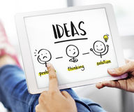 Concepto del gráfico de la gente del pensamiento creativo de las ideas Fotografía de archivo libre de regalías