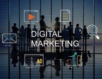 Concepto del gráfico de la tecnología del márketing de Digitaces medios libre illustration