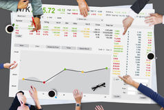 Concepto del gráfico de las finanzas de las divisas del comercio de bolsa de acción foto de archivo libre de regalías