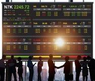 Concepto del gráfico de las finanzas de las divisas del comercio de bolsa de acción fotografía de archivo