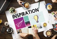 Concepto del gráfico de los pensamientos de la inspiración de la imaginación de las ideas imagen de archivo libre de regalías