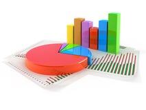 Concepto del gráfico de sectores Imagenes de archivo
