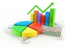 Concepto del gráfico de sectores Imagen de archivo libre de regalías