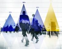 Concepto del gráfico del márketing de la estrategia de análisis de datos de negocio Imagen de archivo