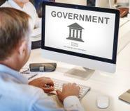 Concepto del gráfico del pilar de la administración del gobierno fotos de archivo
