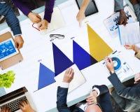 Concepto del gráfico del márketing de la estrategia de análisis de datos de negocio Foto de archivo libre de regalías