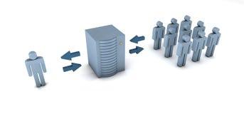 Concepto del Groupware Imagen de archivo libre de regalías