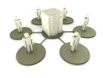Concepto del Groupware Fotografía de archivo libre de regalías
