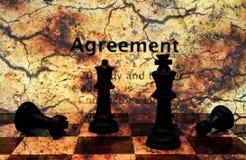 Concepto del grunge del acuerdo Imagen de archivo