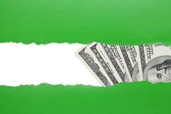Concepto del hallazgo del dinero Fotografía de archivo