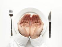 Concepto del hambre. fotografía de archivo