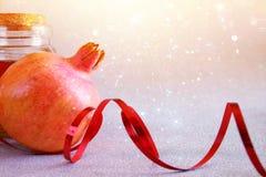 Concepto del hashanah de Rosh (Año Nuevo del jewesh) Símbolo tradicional Fotos de archivo